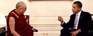 President Obama met de Dalai Lama in het Witte Huis, 2010